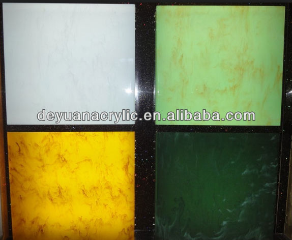 Colorful Marble Cast Acrylic Sheet with Multifunctional