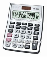 12 digits solar scientific desktop calculator KT-336