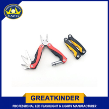 Promotional Stainless Steel Pocket Multifunction Plier With Led Light
