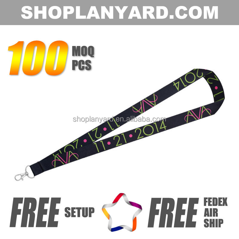 name tags badge id holder with lanyard full color dye sublimated