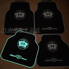 brand fashion cute anti-water anti-slip luminous universal car floor mats for all car models
