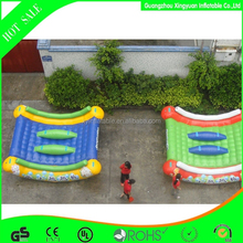 Summer water games inflatable island floating seesaw for sale