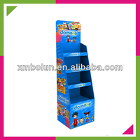 Custom floor standing surpermarket promotional cardboard children toy display