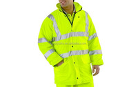 Fluorescent High Visibility Oxford Traffic Winter Jackets Waterproof