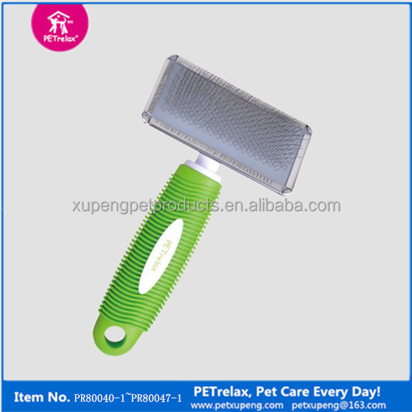 Unique Private label Pet Dog Products Wholesale Plastic Handle Pet Grooming Tools