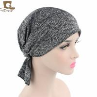 Womens Cotton Chemo Hat Beanie Scarf Turban Headwear for Cancer