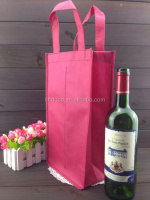 Fancy factory price 2 bottle non woven tote wine bag wholesale