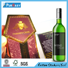 Custom printed imported material packaging adhesive label