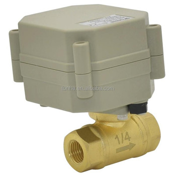 "Tonhe 3/8"" Electric Mini Brass Ball Valve For Small-scale Sewage (T10-B2-A)"