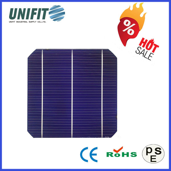 "High Quality 156x156 6"" Mono Crystalline Solar Cell With Broken Solar Cells"