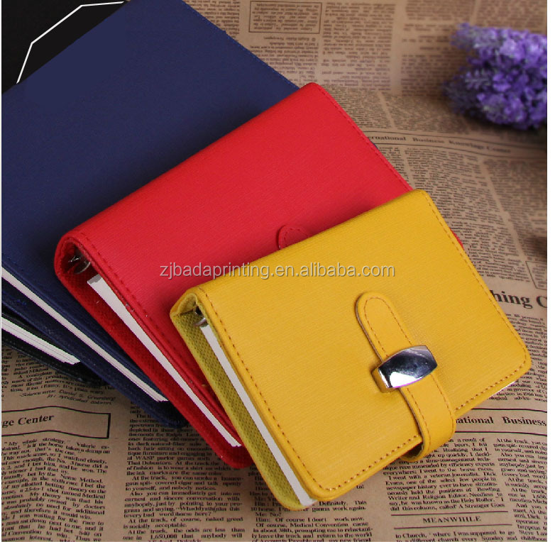 Hot Business Spiral Notebook Paper A5 A6 A7/Leather Cover Notebook Loose leaf Leather Office Notebook