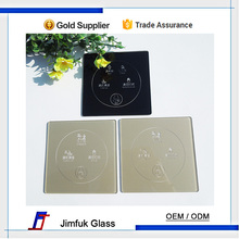 smart tempered silk-screen hollow pattern glass panels for wall switch