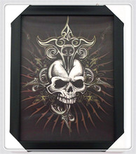 Special offer lenticular cool 3d skull painted photo