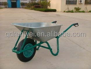 aluminium hot-sale wheel barrow with two wheels and bracket