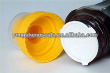 Nice thin aluminum foil induction seal with ear for bottle