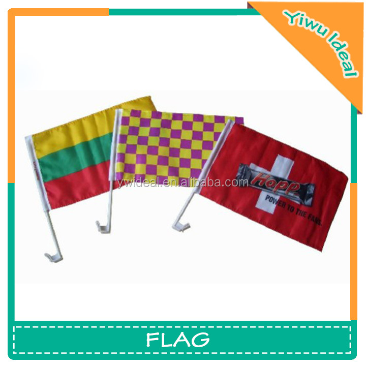 Promotional Polyester Window Antenna Race Car Flags