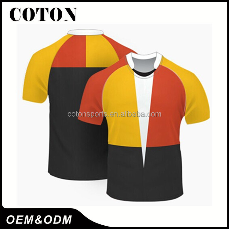 Cheap fashion sublimation cotton rugby jersey Best price high quality
