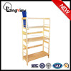 2015 new factory direct selling cheap simple style solid pine wood book shelf