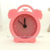 Silicone mini digital clock kids alarm clock