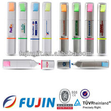 Multi colored highlighter pen flower with sticky note memo for promotion