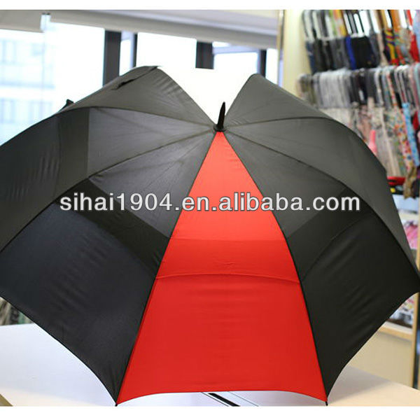 premium golf umbrella with high end and auto open in two colors