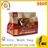 Disposable Paper Hot Chicken Bags With Window And Handle
