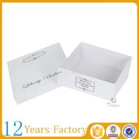 small decorative cardboard box with clear window