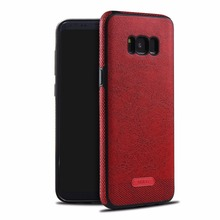 2017 leather luxury cell phone case accessories for Samsung galaxy S8 case bulk buy from China