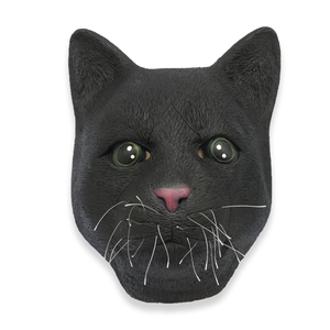 Novelty Funny Halloween Cosplay Party Costume Latex Animal Head Mask - Black Cat