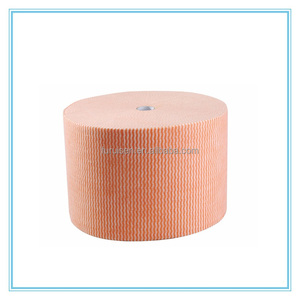 Disposable 70%woodpulp30%polyester Spunlace Nonwoven Roll industrial cleaning wipe