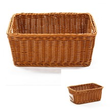 2018 Factory Customization hand woven fruit bread food grade colorful plastic woven basket