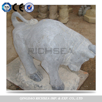 Strict Selection Process Handmade Custom Cow Stone Sculpture Statue