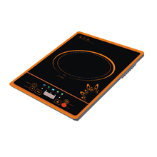 small press button black crystal plate 1500w induction cooker