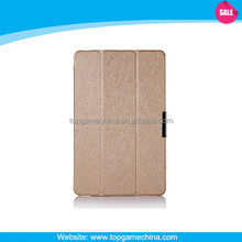 Slim 3 Folding +Silk Pattern Leather Back cover For Dell Venue 11 Pro 5130 Tablet Case