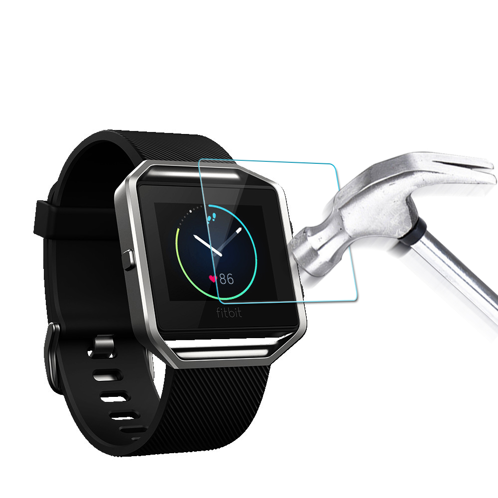Tempered Glass Anti Scratch Film Screen Protector for Fitbit Blaze Smart Watch With Packing