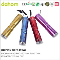 Colorful Power Solar Led Emergency Torch Light Strong Led Mini Flashlight