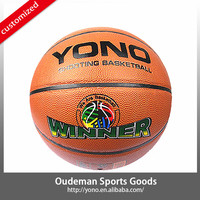 2015 YONO Custom cheap price laminated offcial size PVC basketballs