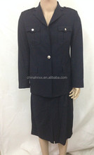 dark blue western-style clothes four pockets police women uniform