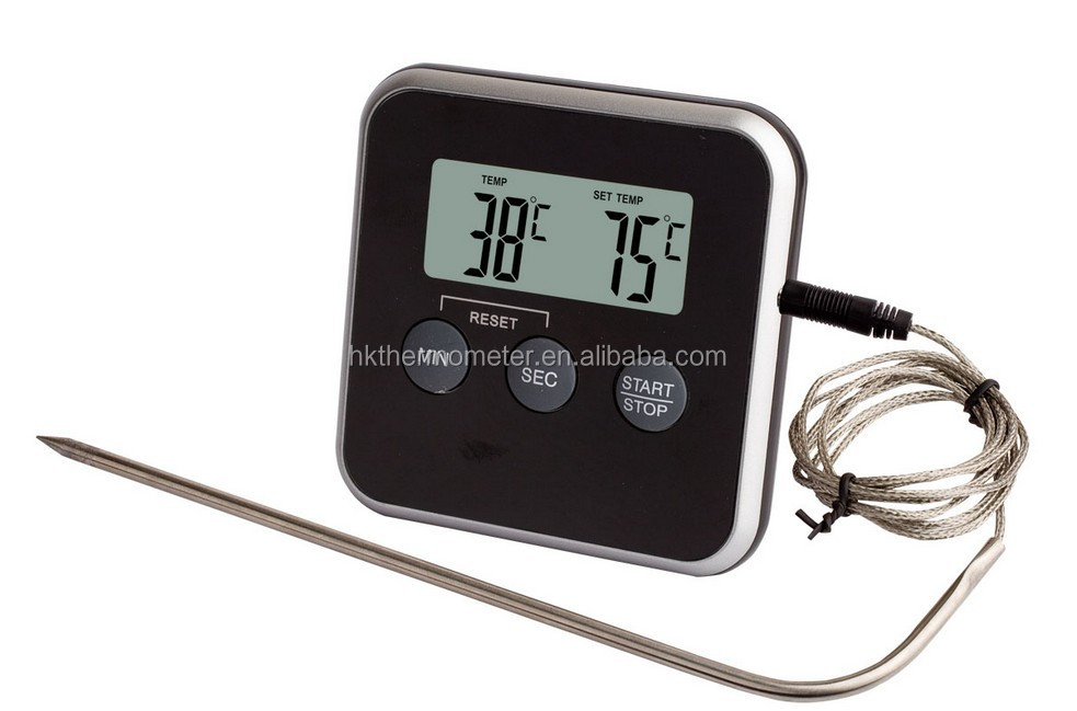 Probe Thermometer with Timer Digital Candy Thermometer
