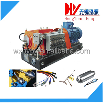 Electric motor driven high pressure water jet blasting equipment
