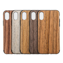 New Design Soft Back Cover Case with Wood Grain Outside Flexible TPU Silicone Hybrid Slim Case for iPhone X MK913