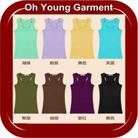 Bulk production low price yoga tank tops