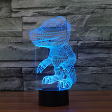 FS3046 Small Dinosaur Kids Gifts Creative Gift 3D Illusion Table Lamps