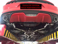 SPORT CATBACK EXHAUST SYSTEM FOR FORD MUSTANG 6TH GENERATION 2.3T 2014-