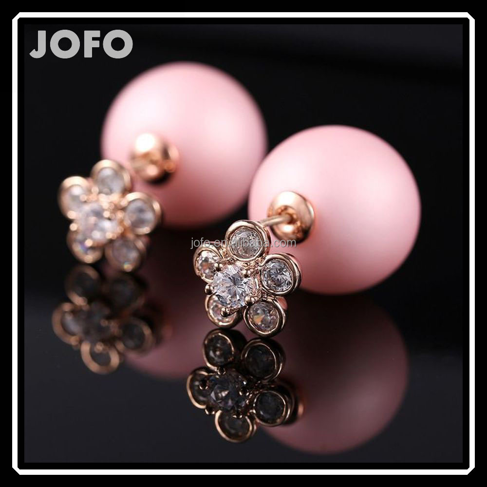 The High-End boucle d'oreille de marque Fashion Earing For Women Cubic Pearl Stud Earrings