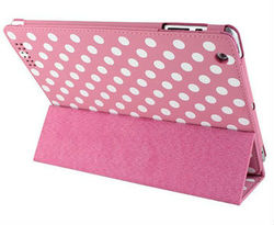 Polka Dots Leather Flip Case for IPad mini Laudtec