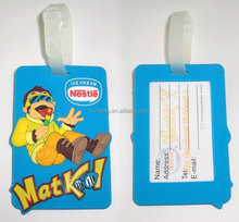 Rubber luggage bag tag with notice paper card can be customized as request