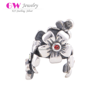 Antique Style Cherry Blossom Silver Charm Boy And Girl Charm 925 Silver
