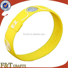 high quality cool laser printing energy custom adjustable silicon wristband for adults