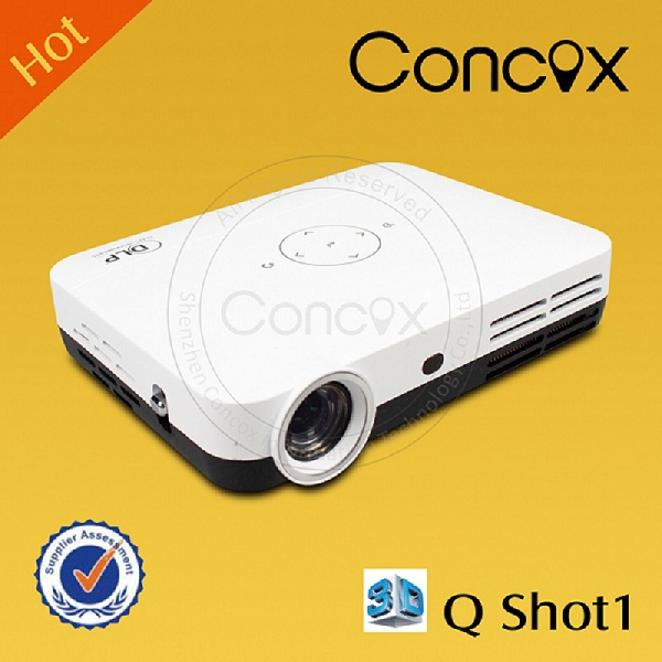 3d projector shutter with high lunmens for office/ home/ education Concox Q shot1